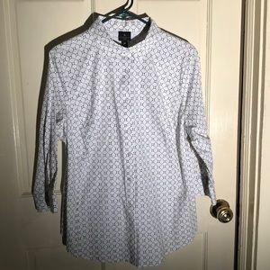 3 quarter sleeve Button up blouse